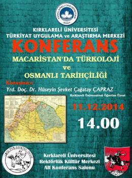 Macaristan'da Türkoloji ve Osmanlı TarihçiliğiKonferansı